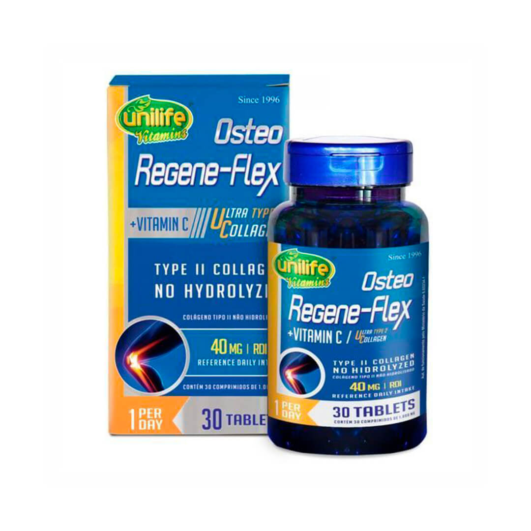 Osteo Regene-Flex Vitamina C 30 Tabletes Unilife