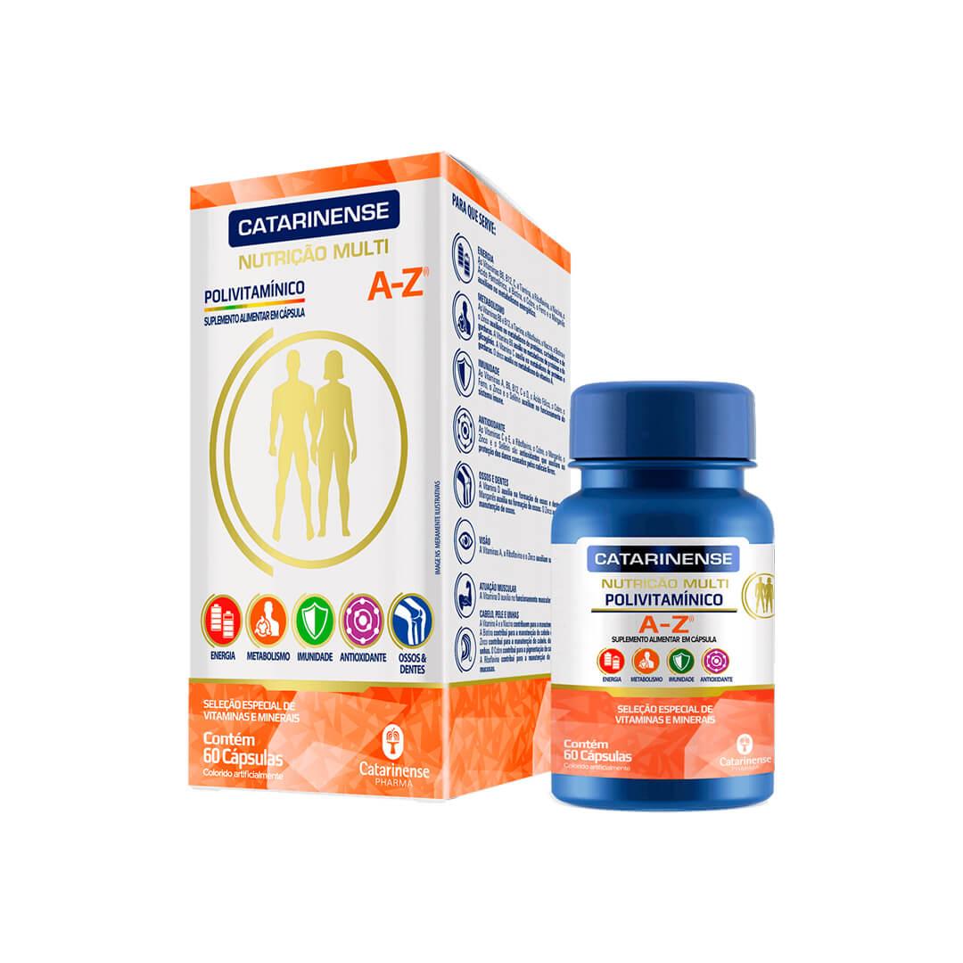 Polivitamínico A-Z 60 Caps Catarinense Pharma