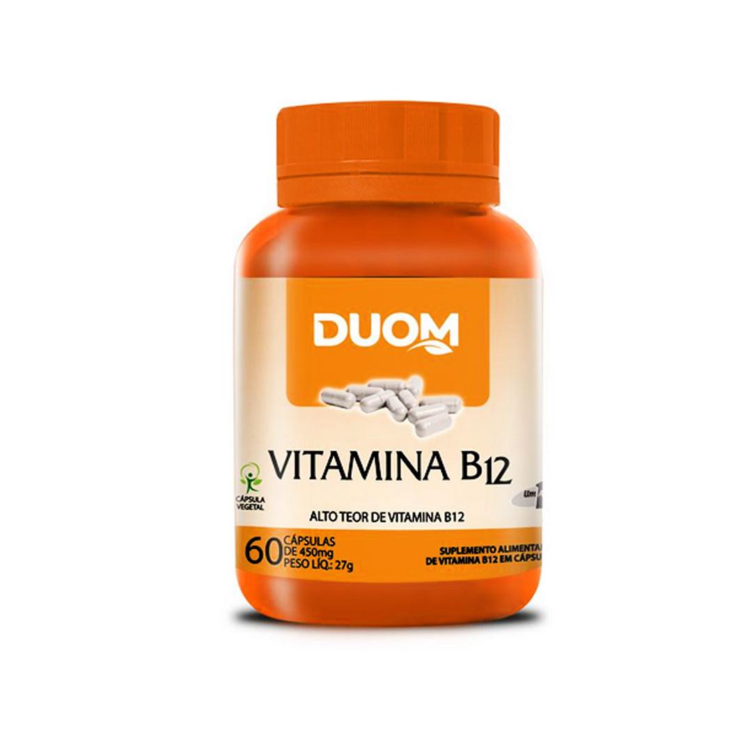 Vitamina B12 Cianocobalamina 60 Cápsulas Duom