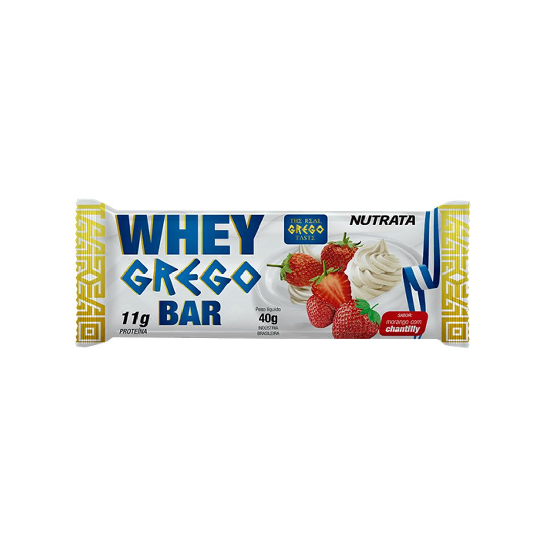 Whey Grego Bar Barra de Proteína 40g Nutrata