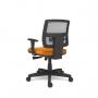 Cadeira Mix - Espaldar Médio - Tela cinza