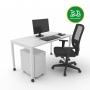 Kit Home Office 1 - Branco - Frete Grátis
