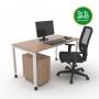 Kit Home Office 1 - Itapuã com Branco - Frete Grátis
