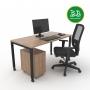 Kit Home Office 1 - Itapuã com Preto - Frete Grátis