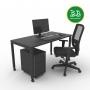 Kit Home Office 1 - Preto - Frete Grátis