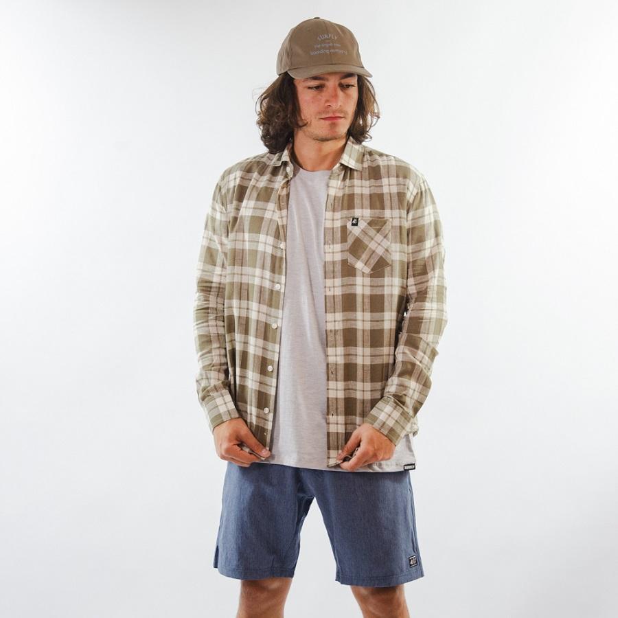 Camisa de Linho Verde Musgo Claro 3030
