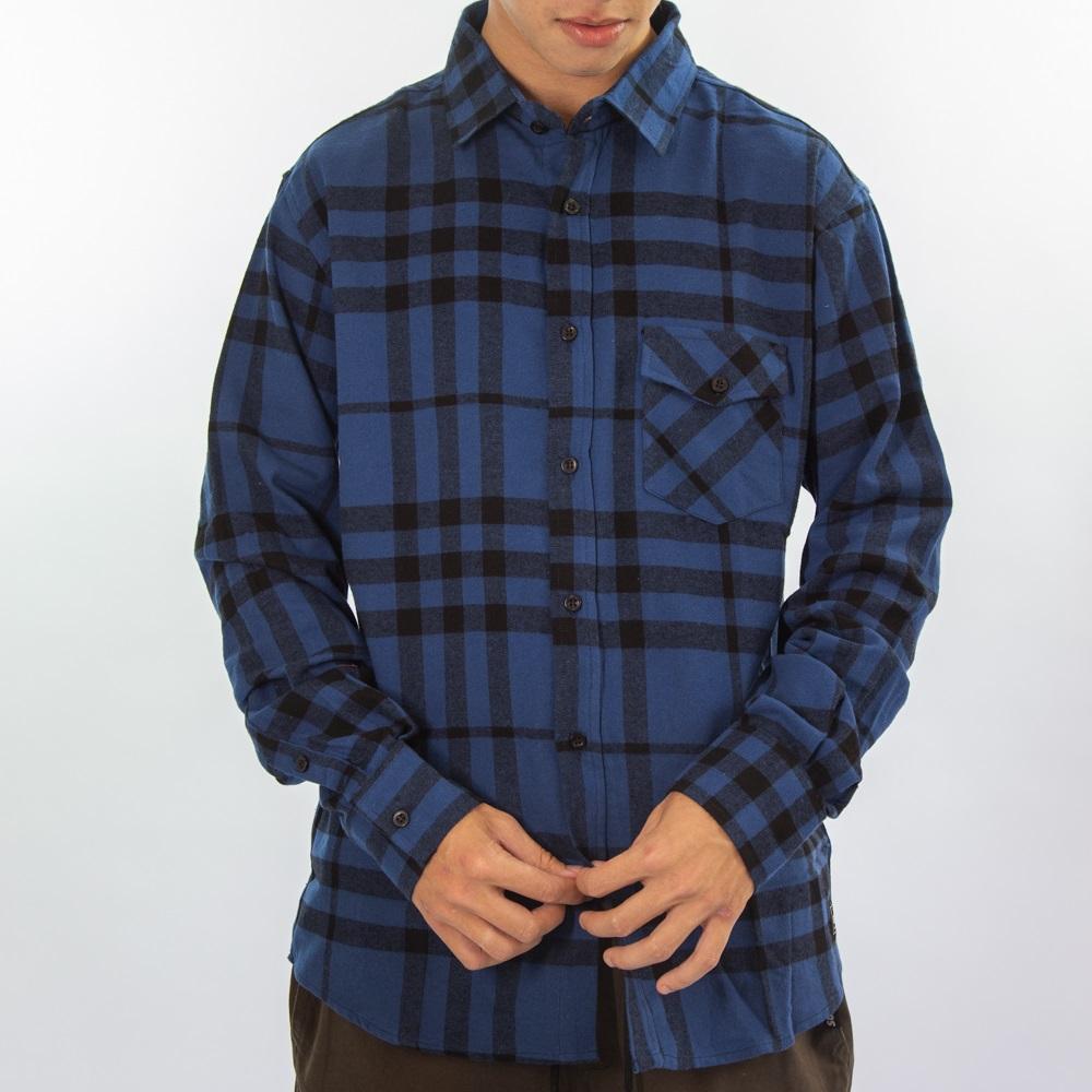 Camisa Flanela Azul e Preto  280220
