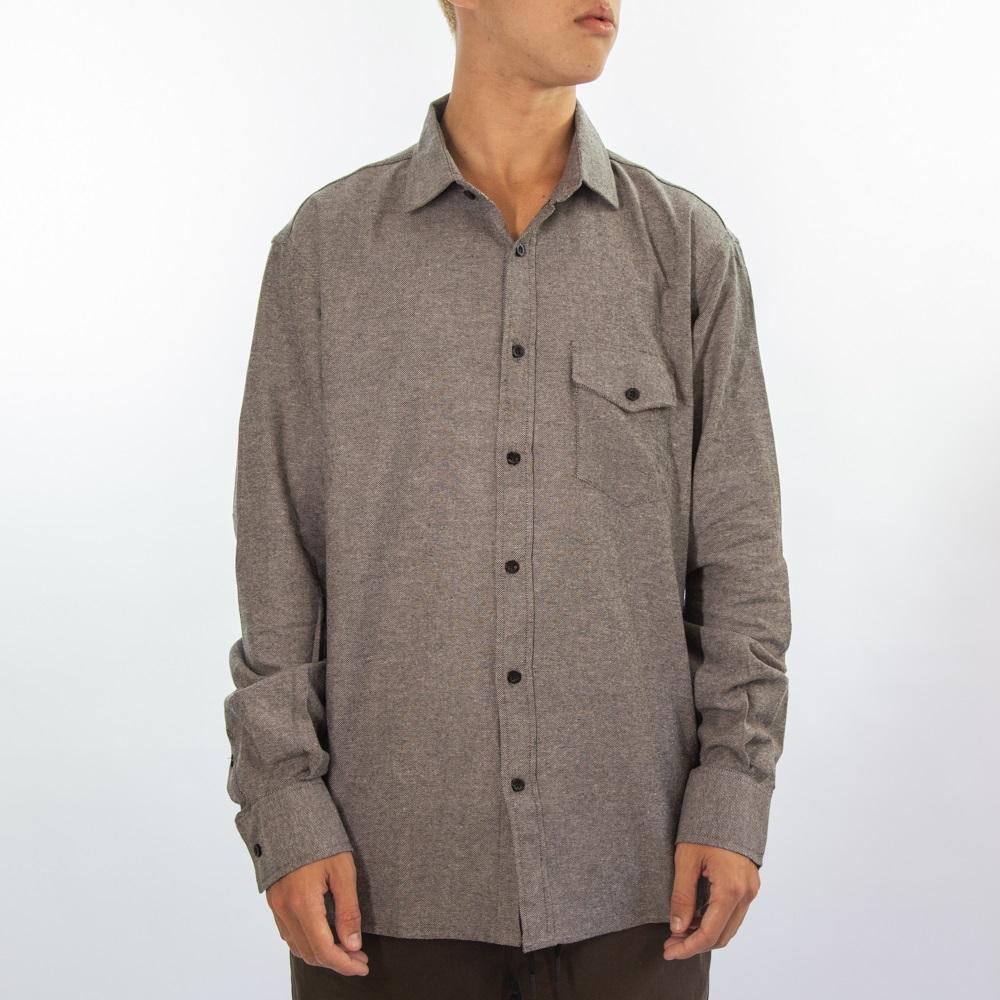 Camisa Flanela Mescla Cinza 280720