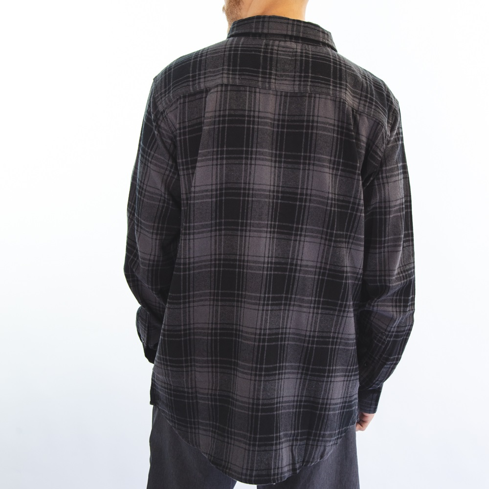 Camisa Flanela Preto e Cinza Cflm-102-1