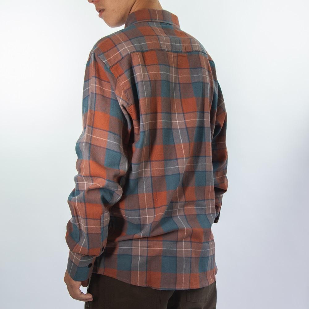 Camisa Flanela Cobre e Azul  280520