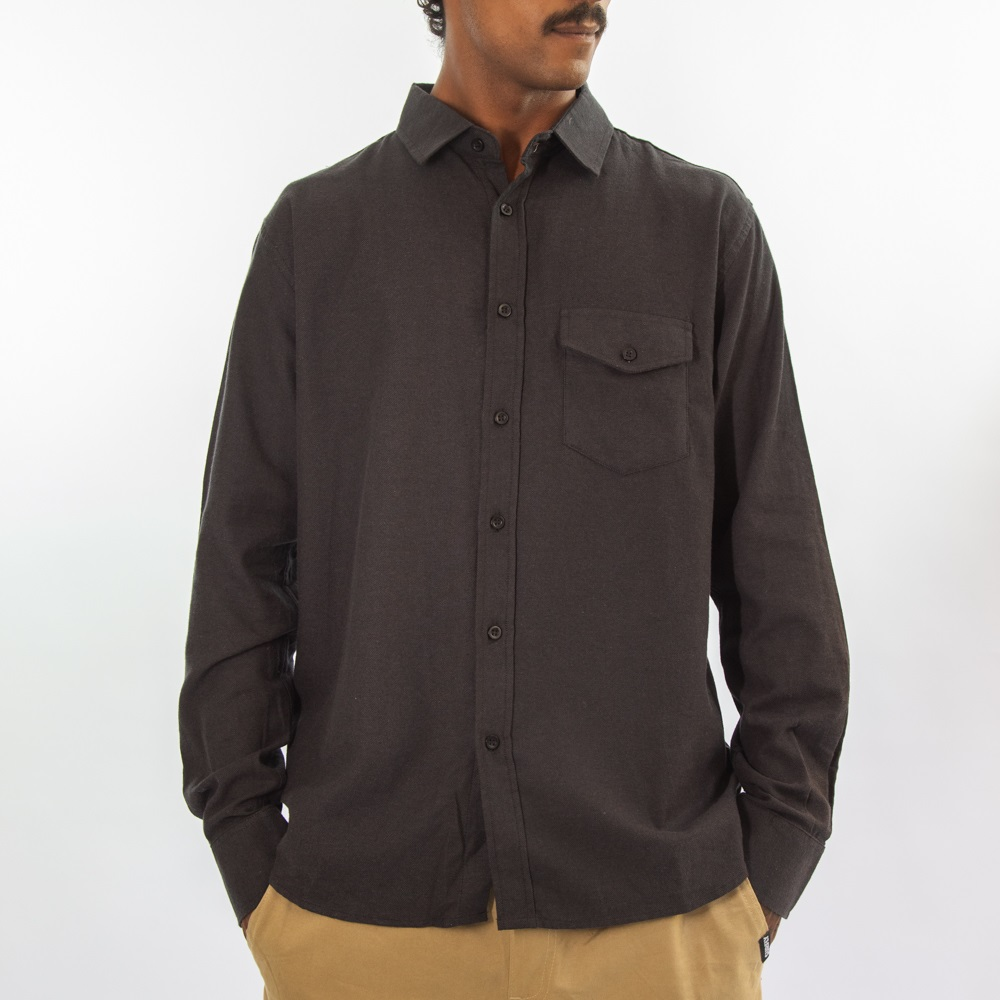 Camisa Flanela Preto 280820