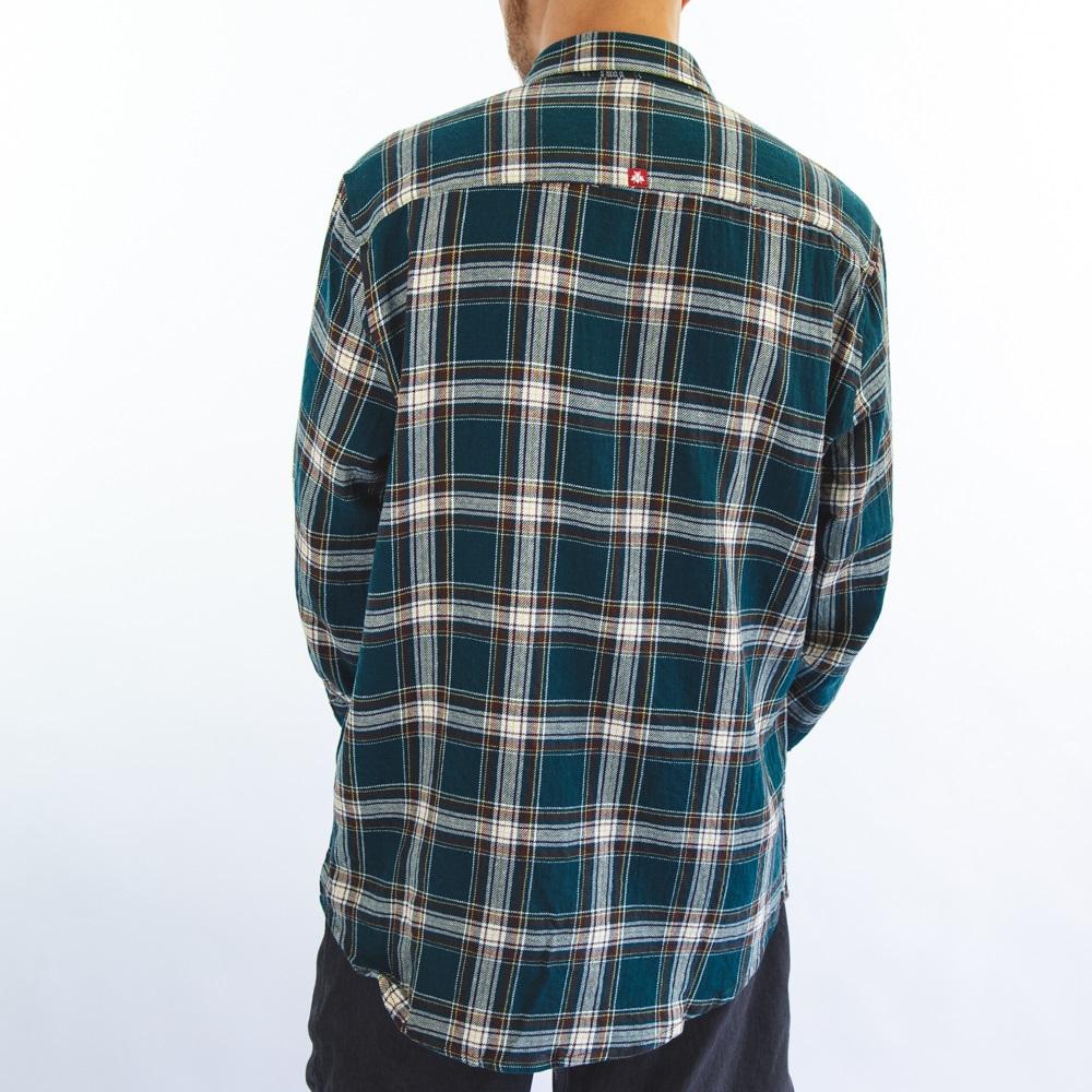 Camisa Flanela Verde Turquesa 6120