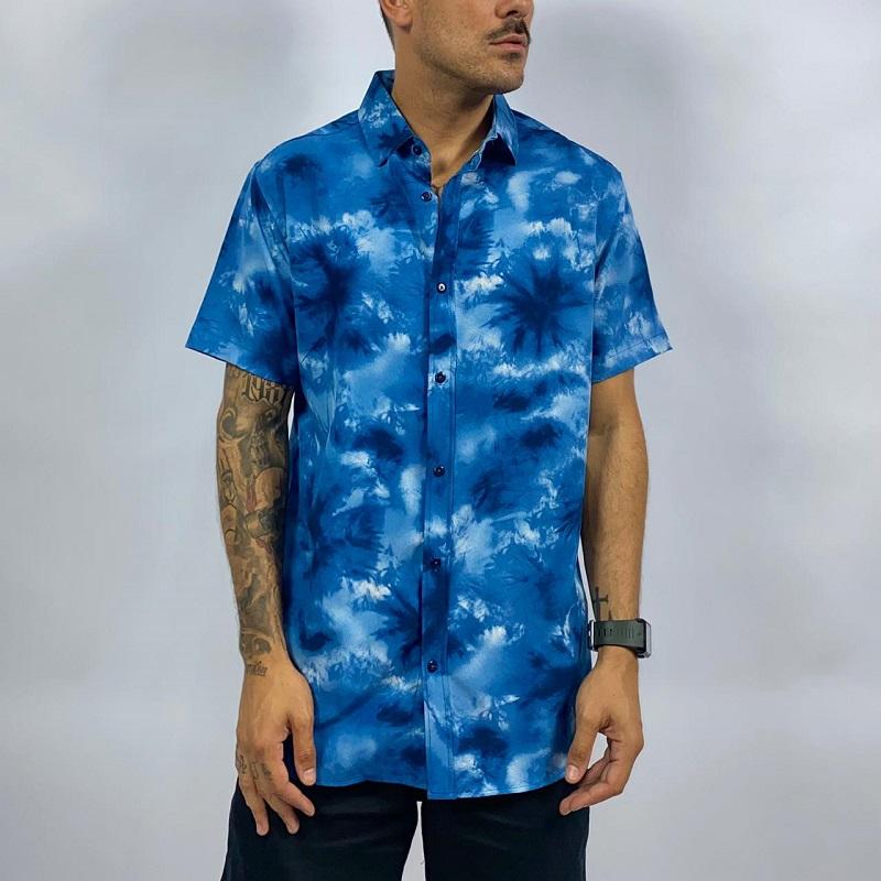 Camisa M/C TIE DYE AZUL CM3581