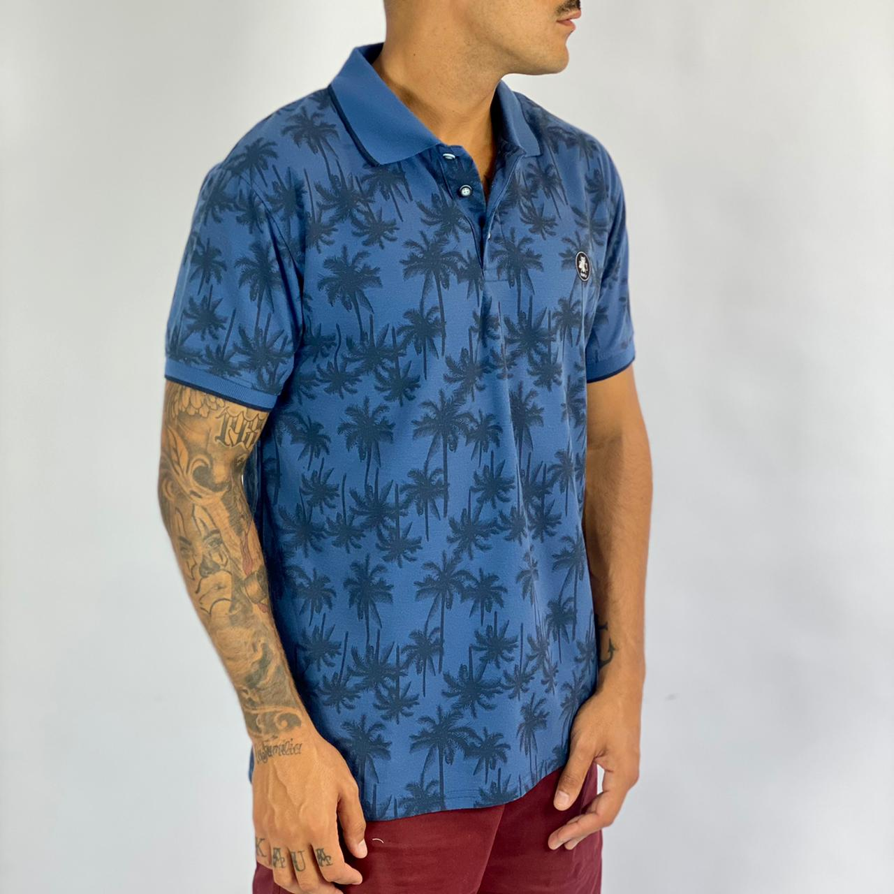 Camisa Polo Estampada Bl-7365