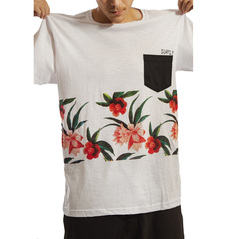 Camiseta Especial Pocket Flowers / 77034