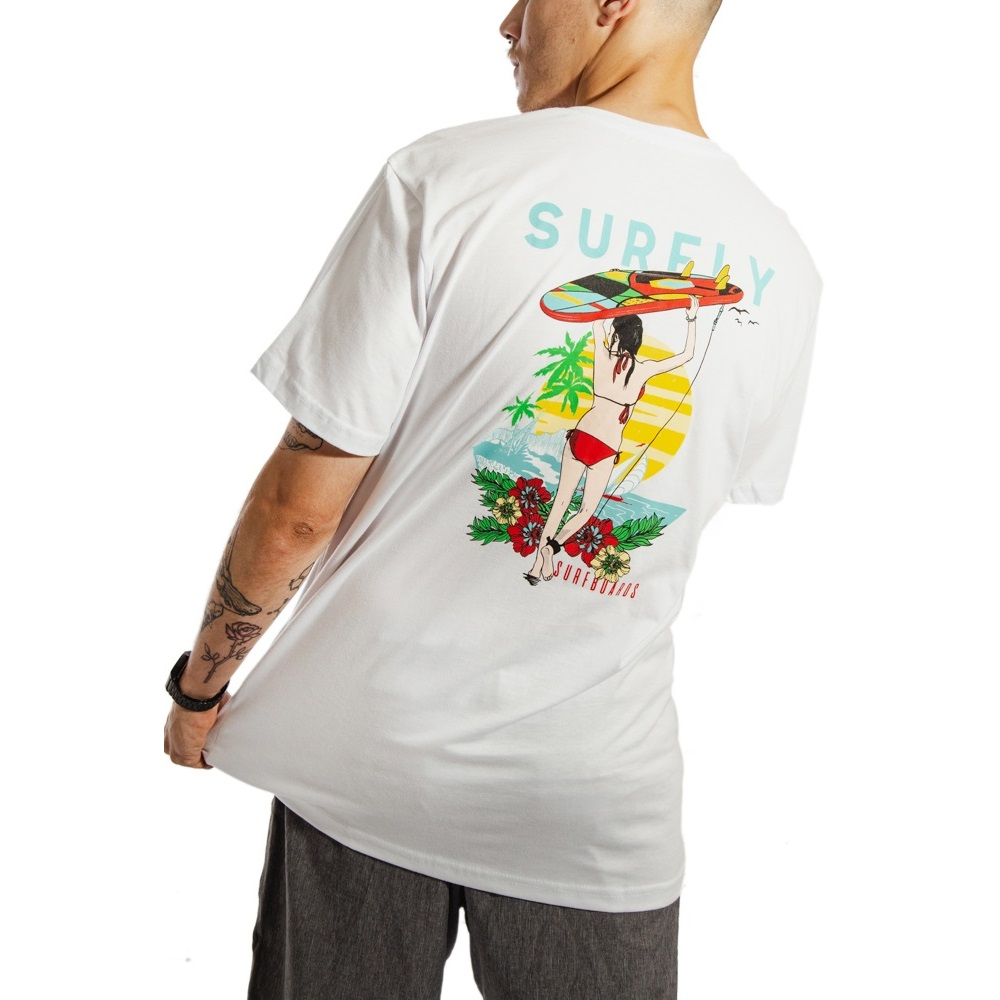 Camiseta Estampada Surf Beach 10240