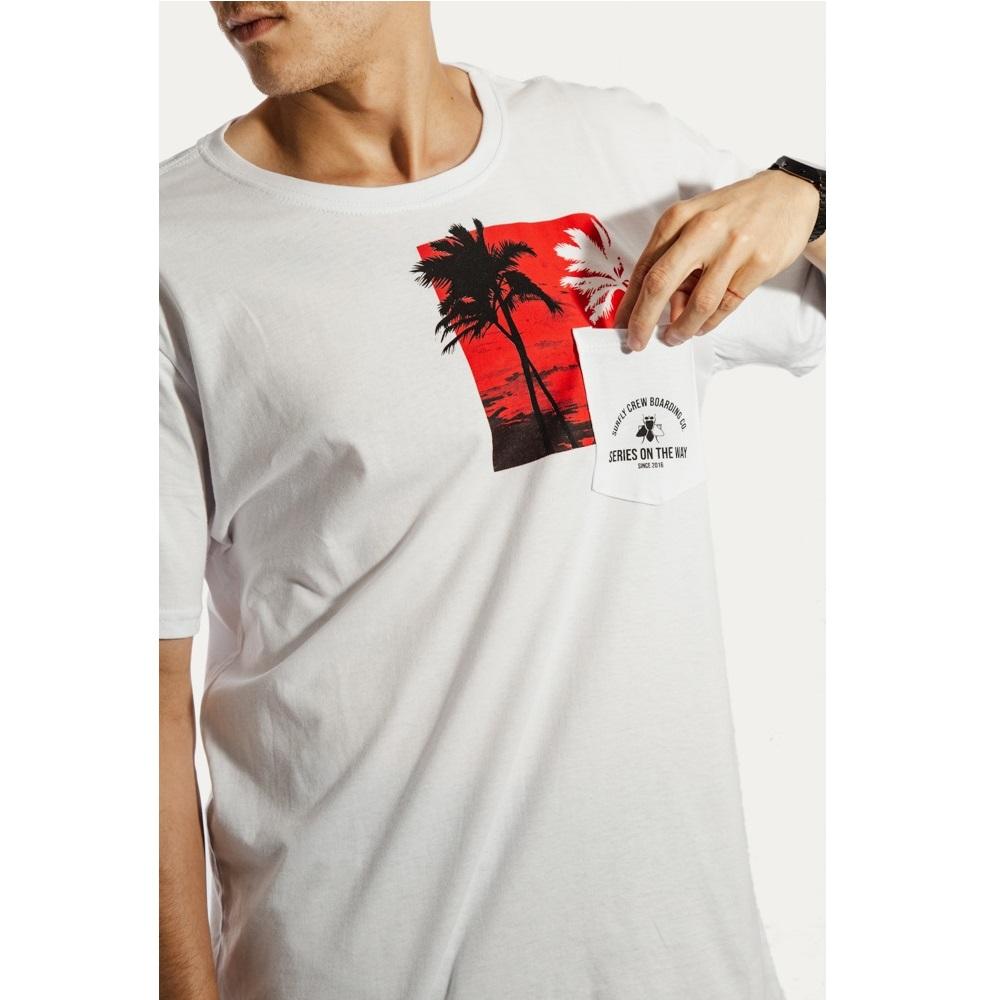Camiseta Estampada Sunset 10268kit