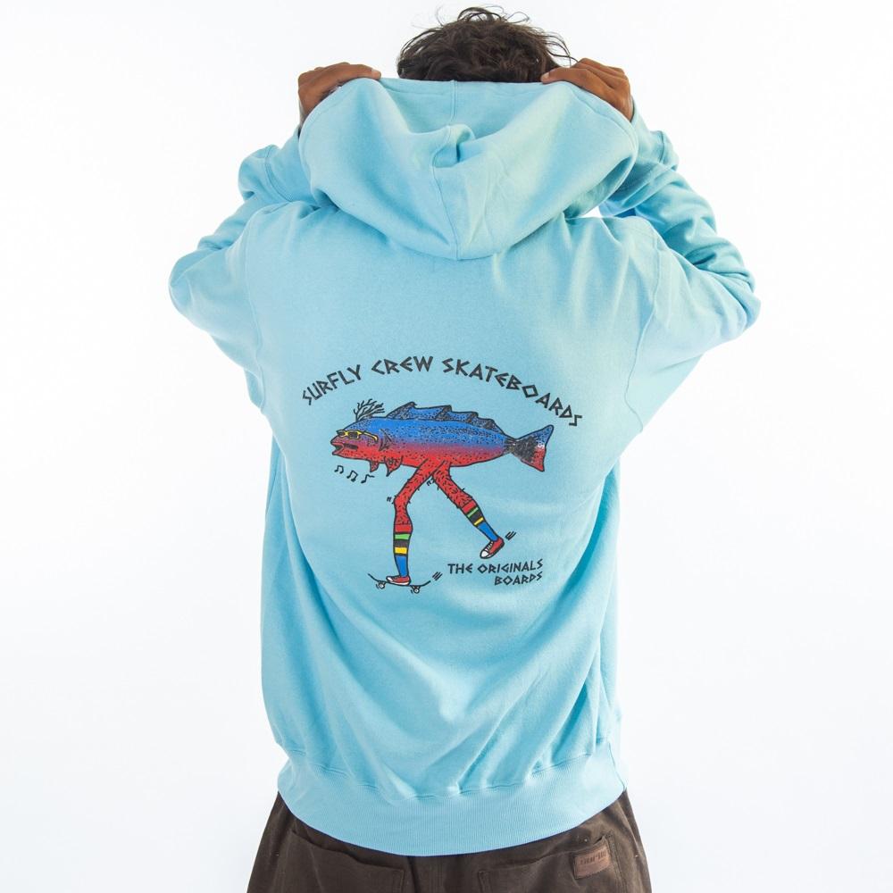 Moletom Canguru Ziper In98420 - Azul
