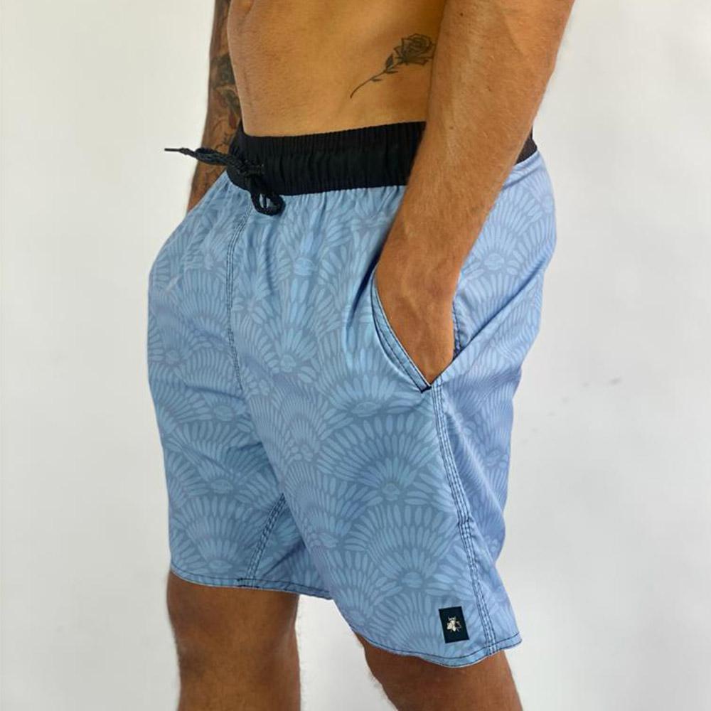 Shorts Blue Petals Sh6421