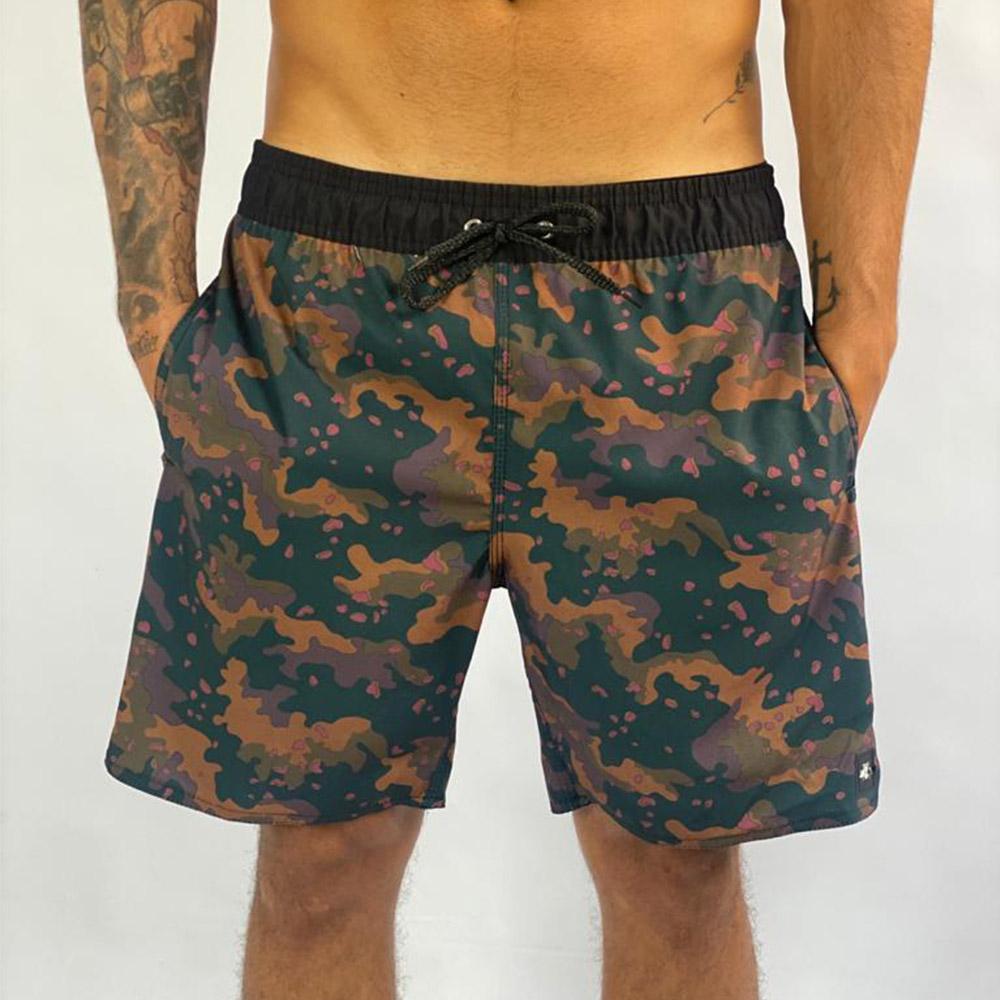 Shorts Orange Camo Sh6521