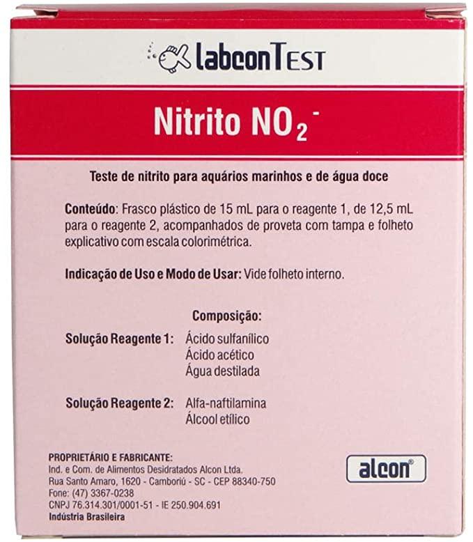 Alcon Labcon Teste Nitrito No2 Água Doce E Salgada 100Testes