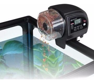 Alimentador Automático De Peixes Digital A Pilha Boyu Zw82