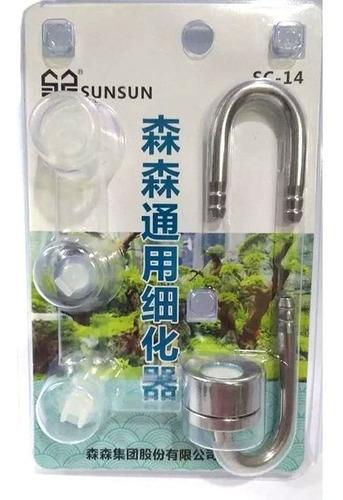 Difusor Co2 Para Aquário Suporte De Metal Sc-14 Sunsun
