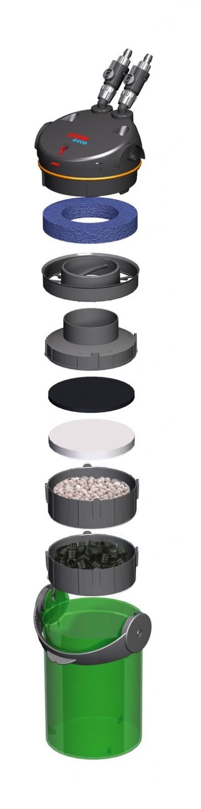 Filtro Canister Eheim Ecco Easy 60 - 600 L/h ( 2234 ) 110v