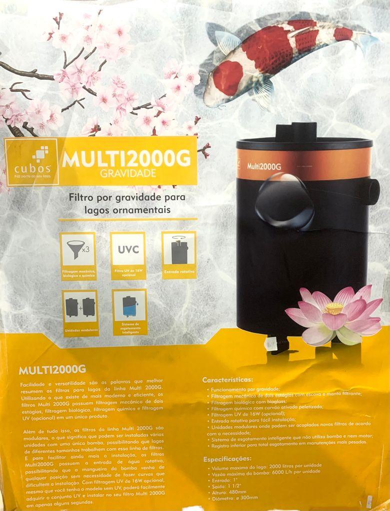 Filtro Cubos Multi 2000g Com Uv 16w Para Lagos Ornamentais