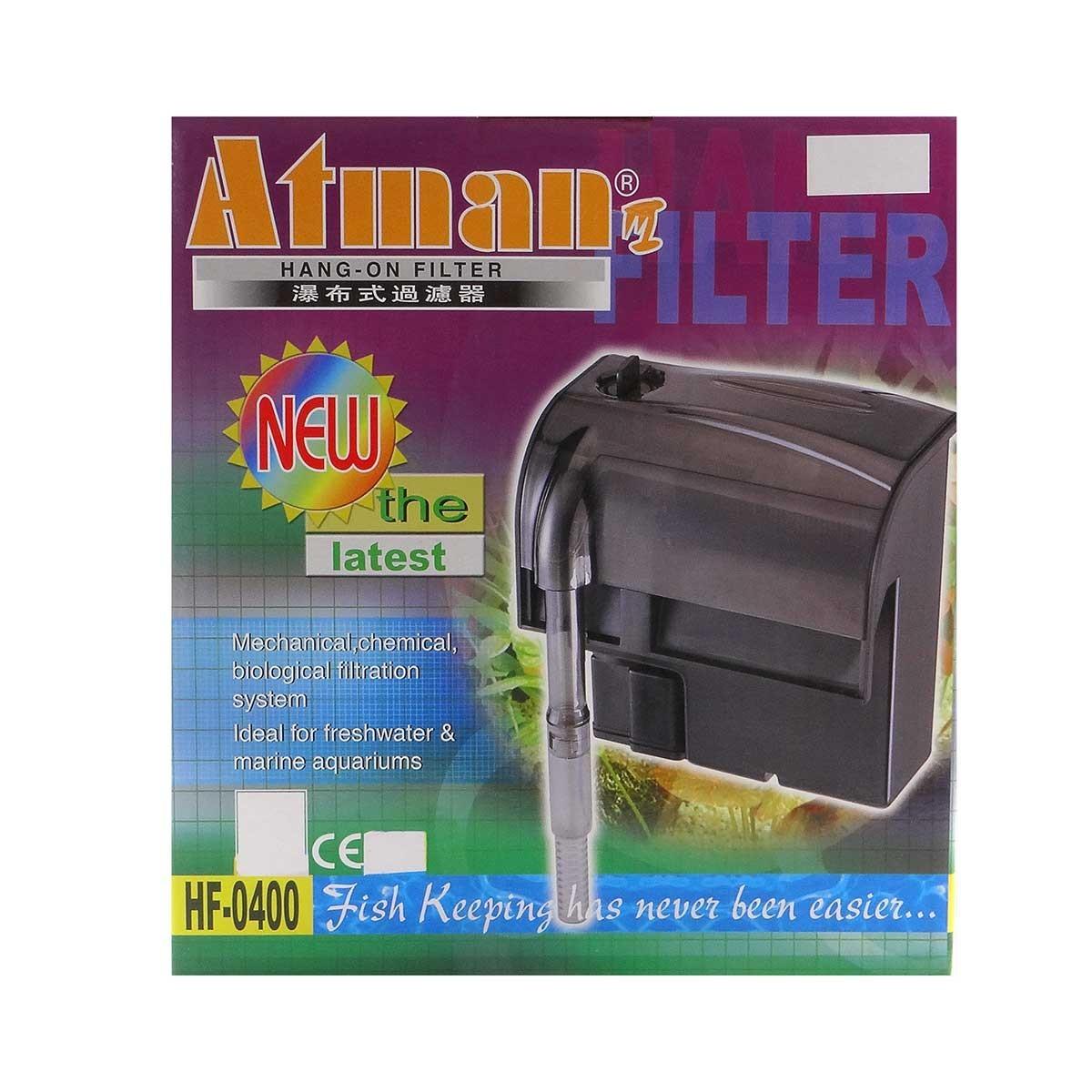 Filtro Externo Hang- On Atman Hf-400 450 L/h P/ Aquários