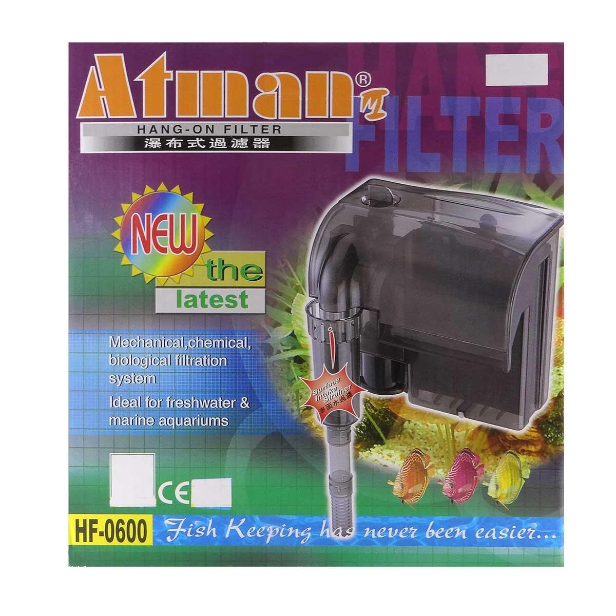 Filtro Externo Hang- On Atman Hf-600 650 L/h P/ Aquários