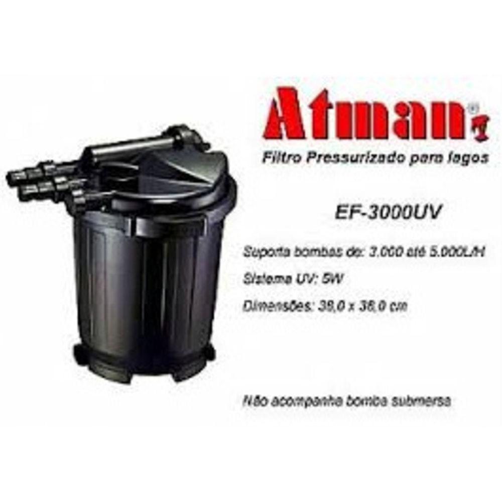 Filtro Pressurizado Para Lagos Atman Ef-3000 Uv 5w