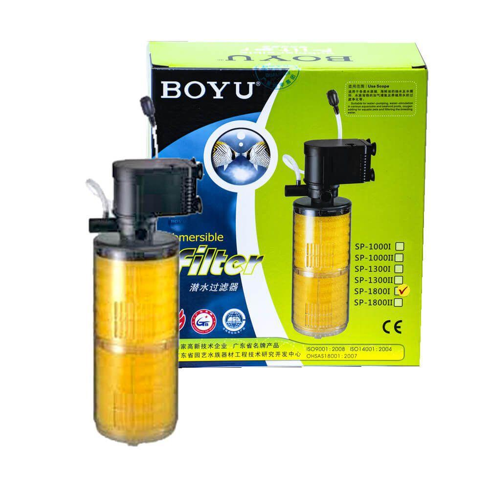 Filtro Submerso C/ Bomba Boyu Sp 1800II 700L/h