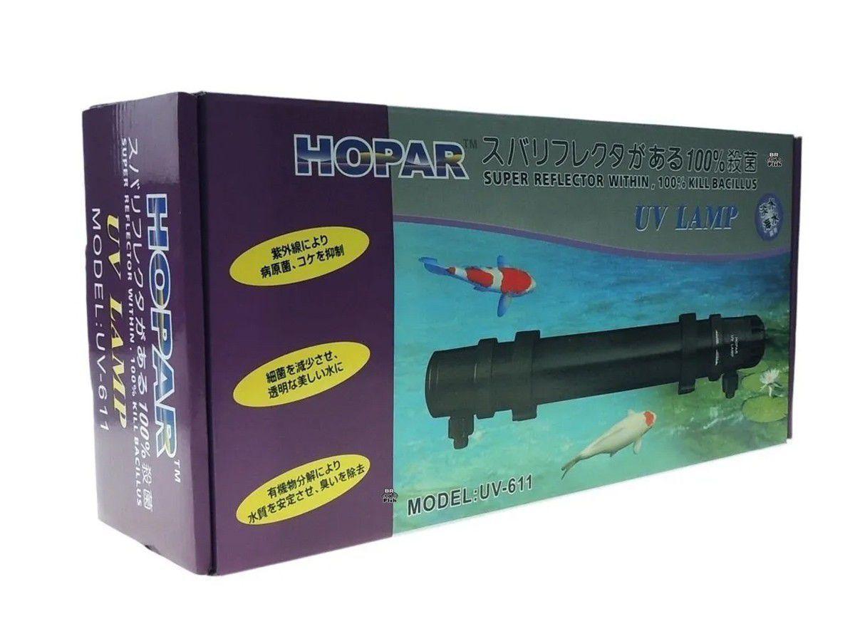 Filtro Ultravioleta Hopar Uv-611 55W P/Aquários/Lagos