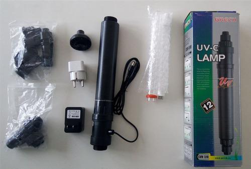 Filtro UV Aquário Sunsun/Grech Cuv-510 220v C/ Lâmpada 10w