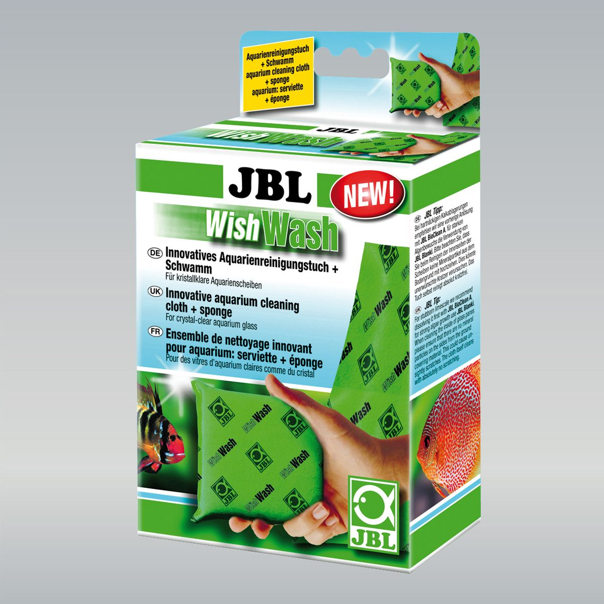 Kit de Limpeza JBL Para Aquários Esponja e Toalha