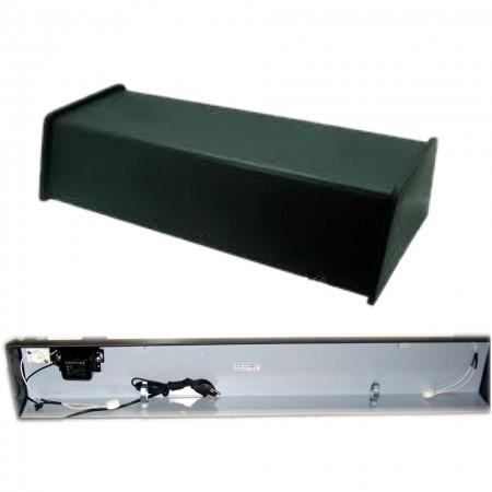 Luminária Aquário Calha 66cm T8 C/ Lâmpada Branca/azul 110v