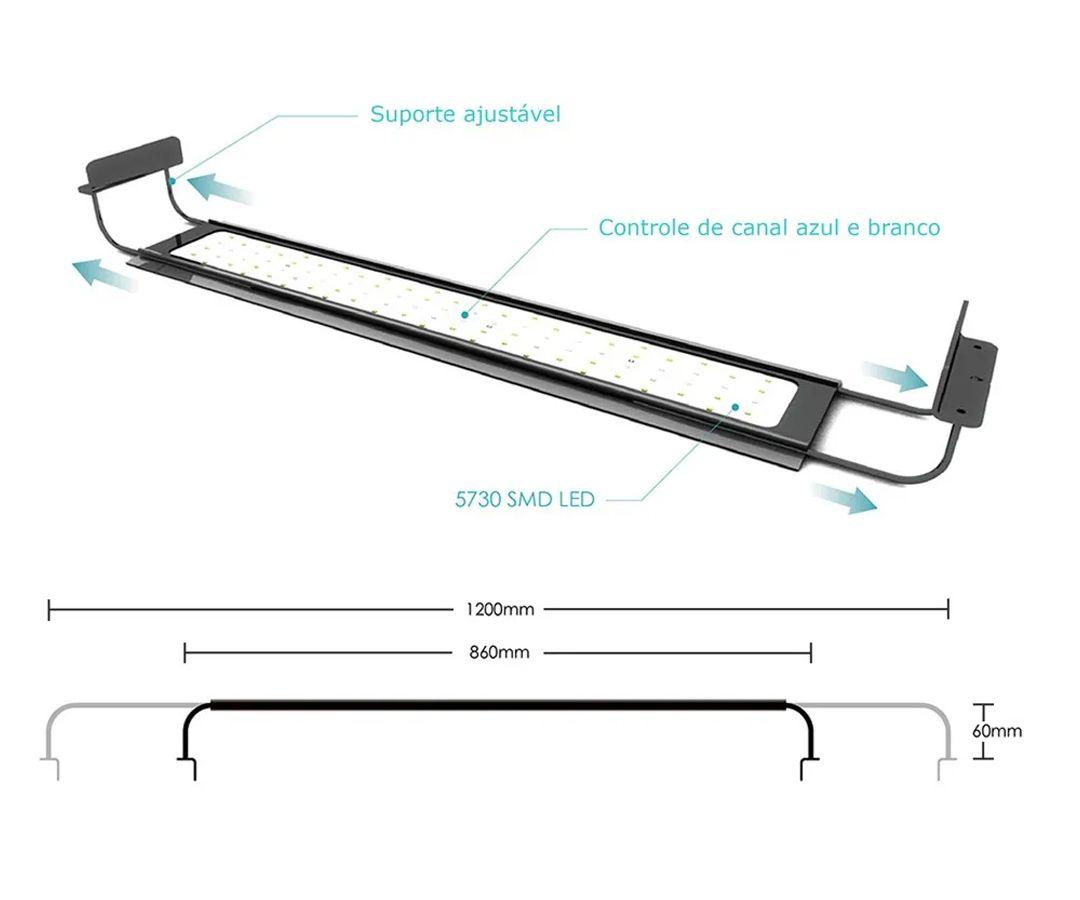 Luminária Para Plantado Nemo Light LED - Aqua Fresh 54w