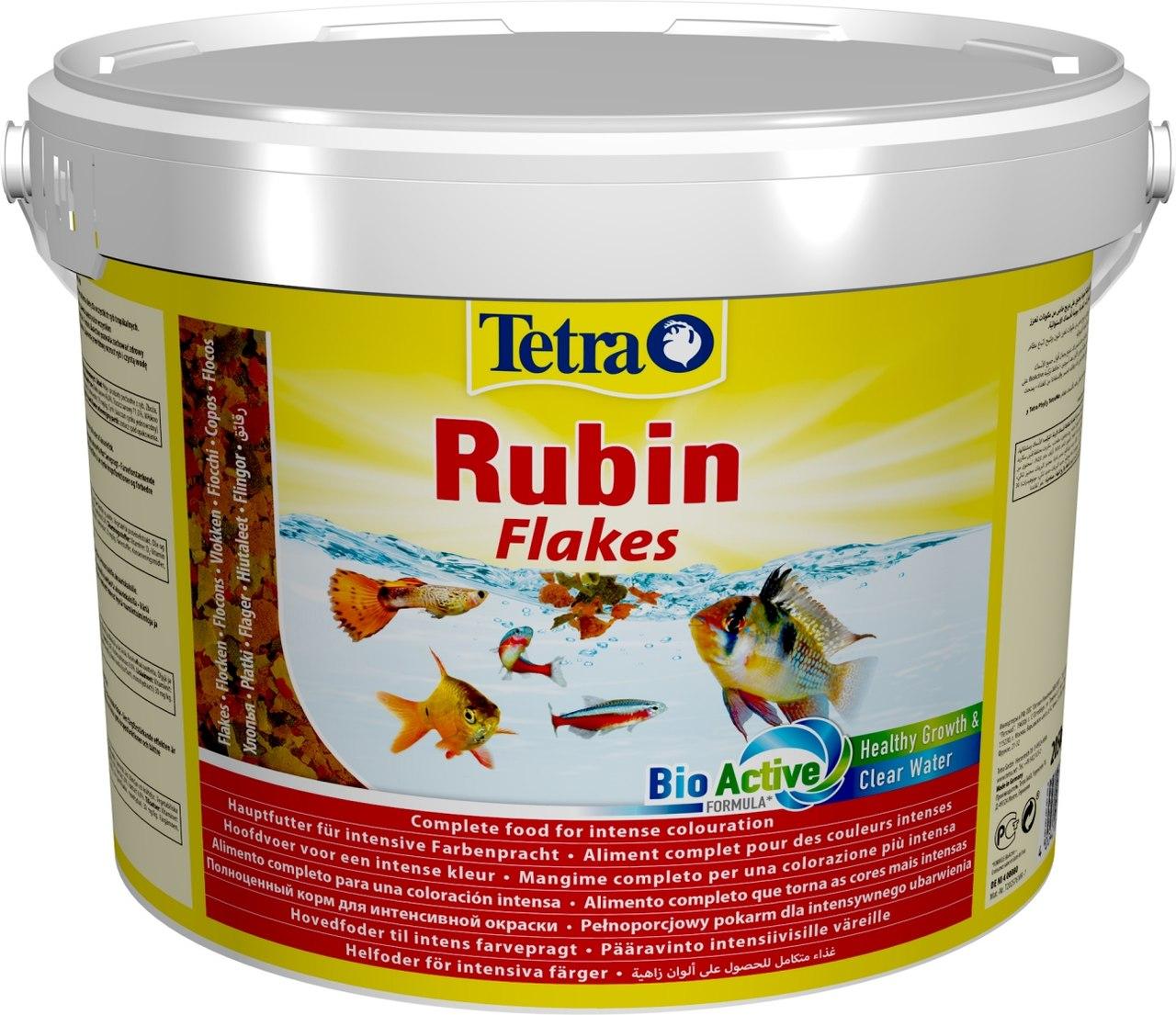 Ração Para Peixes Flocos Tetra Rubin 2.05Kg Balde 10L