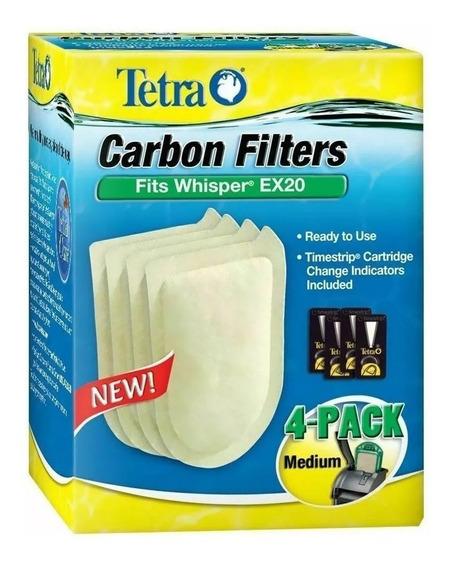Refil Filtro Whisper Medium Bio Bag Ex 20 Tetra C/ 4un