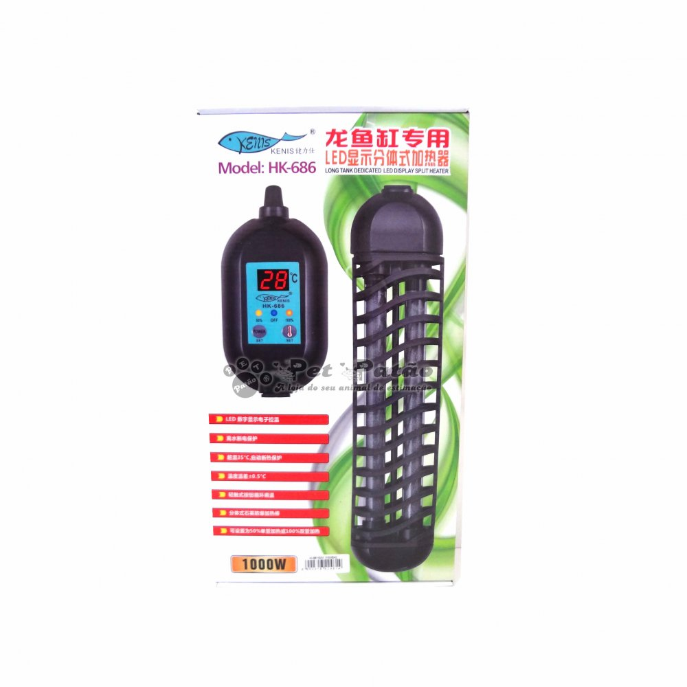 Termostato Aquecedor Eletrônico Hopar HK-686 1000W
