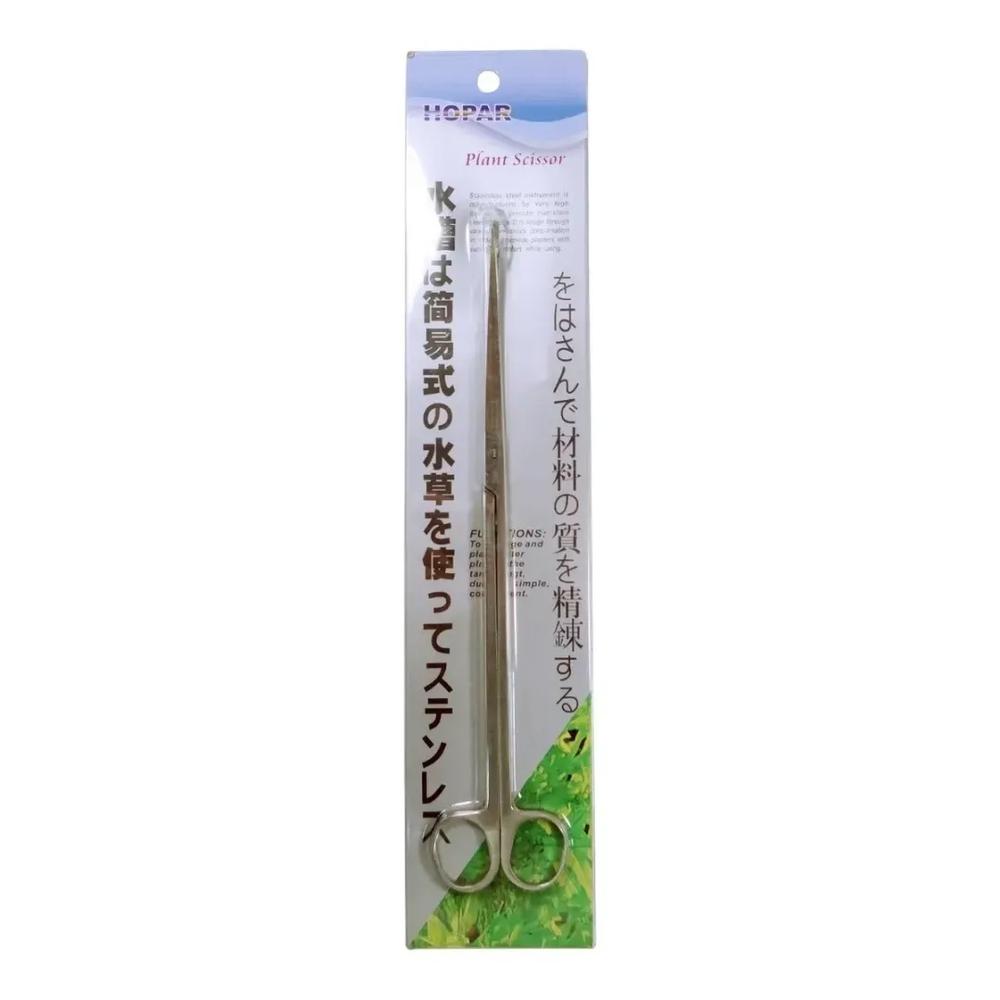 Tesoura Curva D 27 Hopar 25cm Em Inox Aquários Plantados