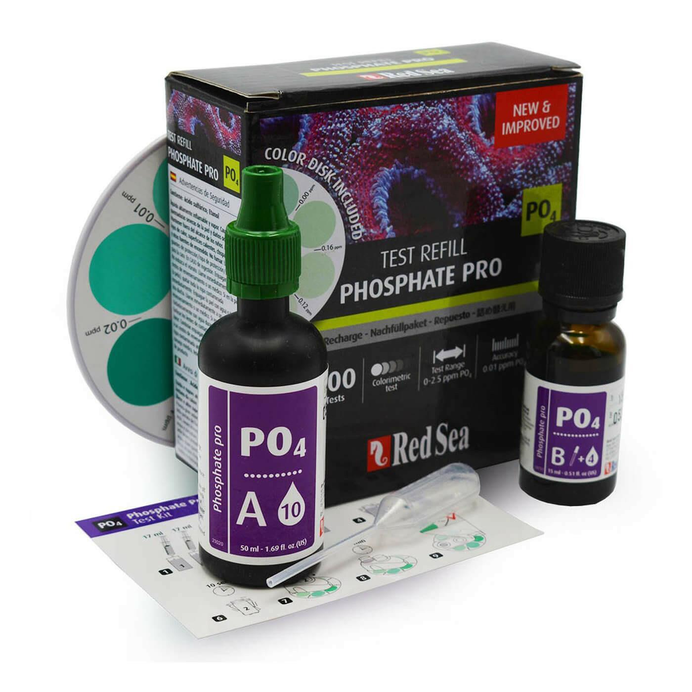 Teste Fosfato Red Sea Reef Test Kit Phosphate Pro (po4)