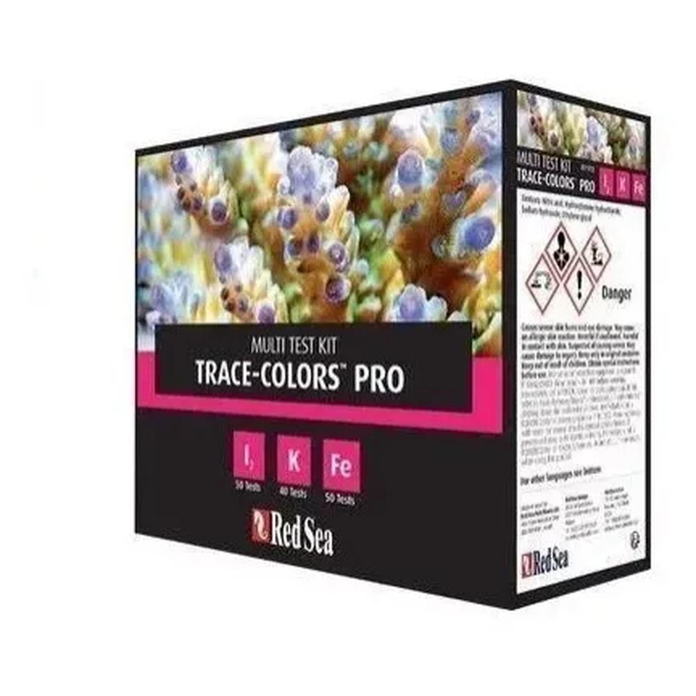 Teste Red Sea Reef Multi Test Kit Trace-colors Pro I2/ K /Fe