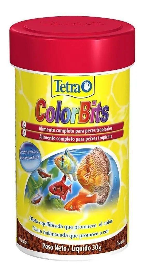 Tetra Colorbits Granules Acará Bandeira E Discos