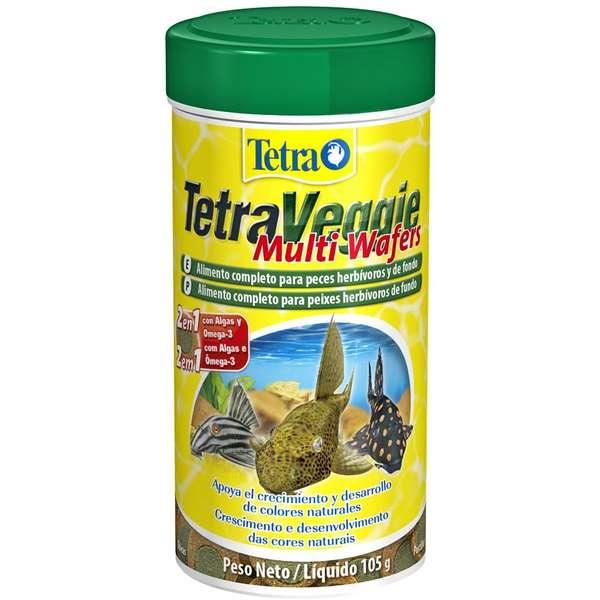 Tetra Veggie Multi Wafers Ração P/ Peixes De Fundo 105g