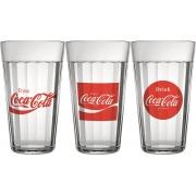 Conjunto 3 Copos Americano Coca-Cola 450Ml