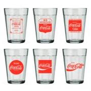 Conjunto 6 Copos Americano Coca-Cola 190Ml
