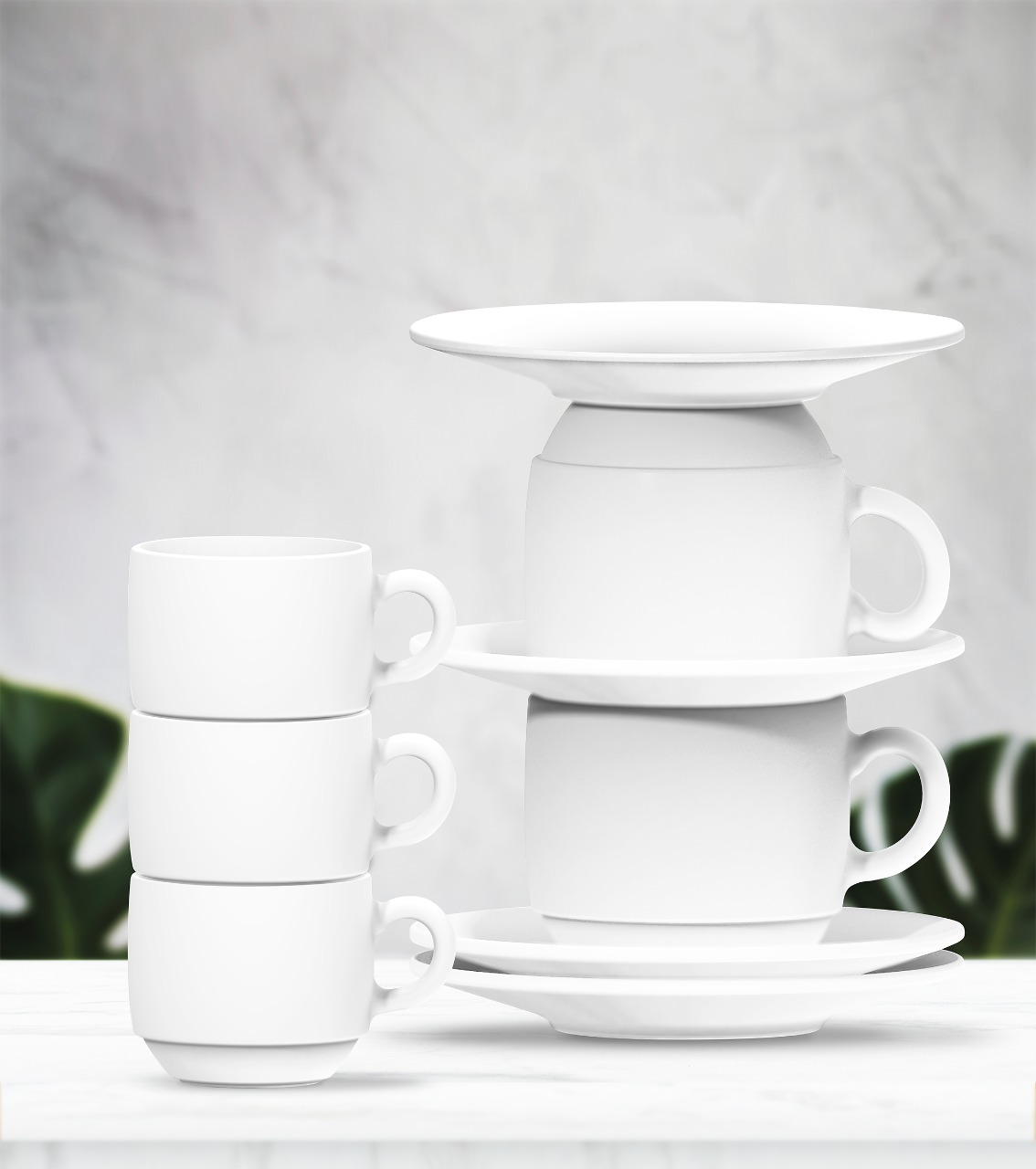 Xícara Chá Opaline com pires  240ml