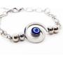 Pulseira Espiral Olho Grego - Aço
